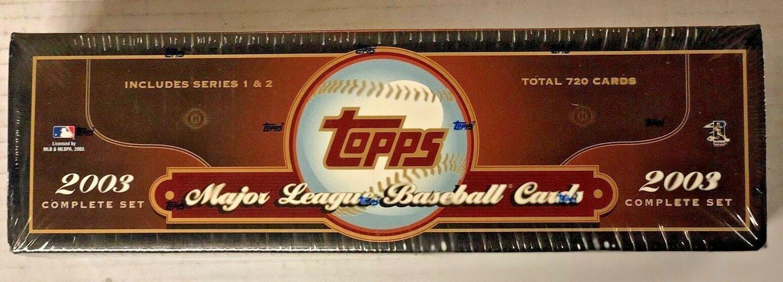 2003 Topps Baseball Complete 720 Card Factory Hta Hobby Set Series 1 2