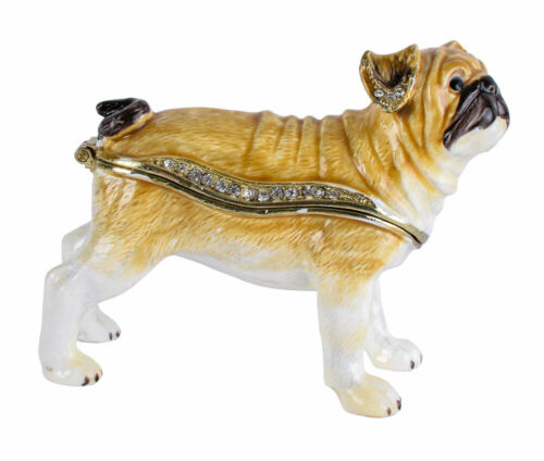 Schmuckschatulle Mops Pillendose Schmuckdose Hund Dose Pillenbox jewelry box