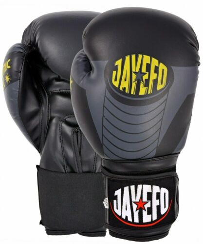 JAYEFO DYNAMIC LEATHER BOXING GLOVES MMA MUAY THAI KICK BOXING SPARRING GLOVES