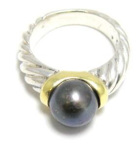 authentic david yurman 18k silver pearl ring ebay