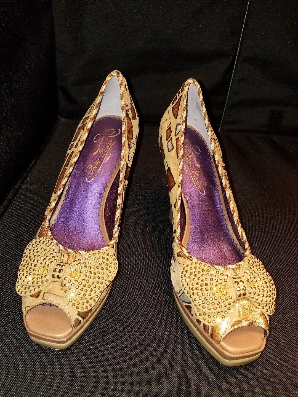 NWOB Poetic License EU39 US8M  Geometric Bows Peep Toe Pumps High Heel shoes