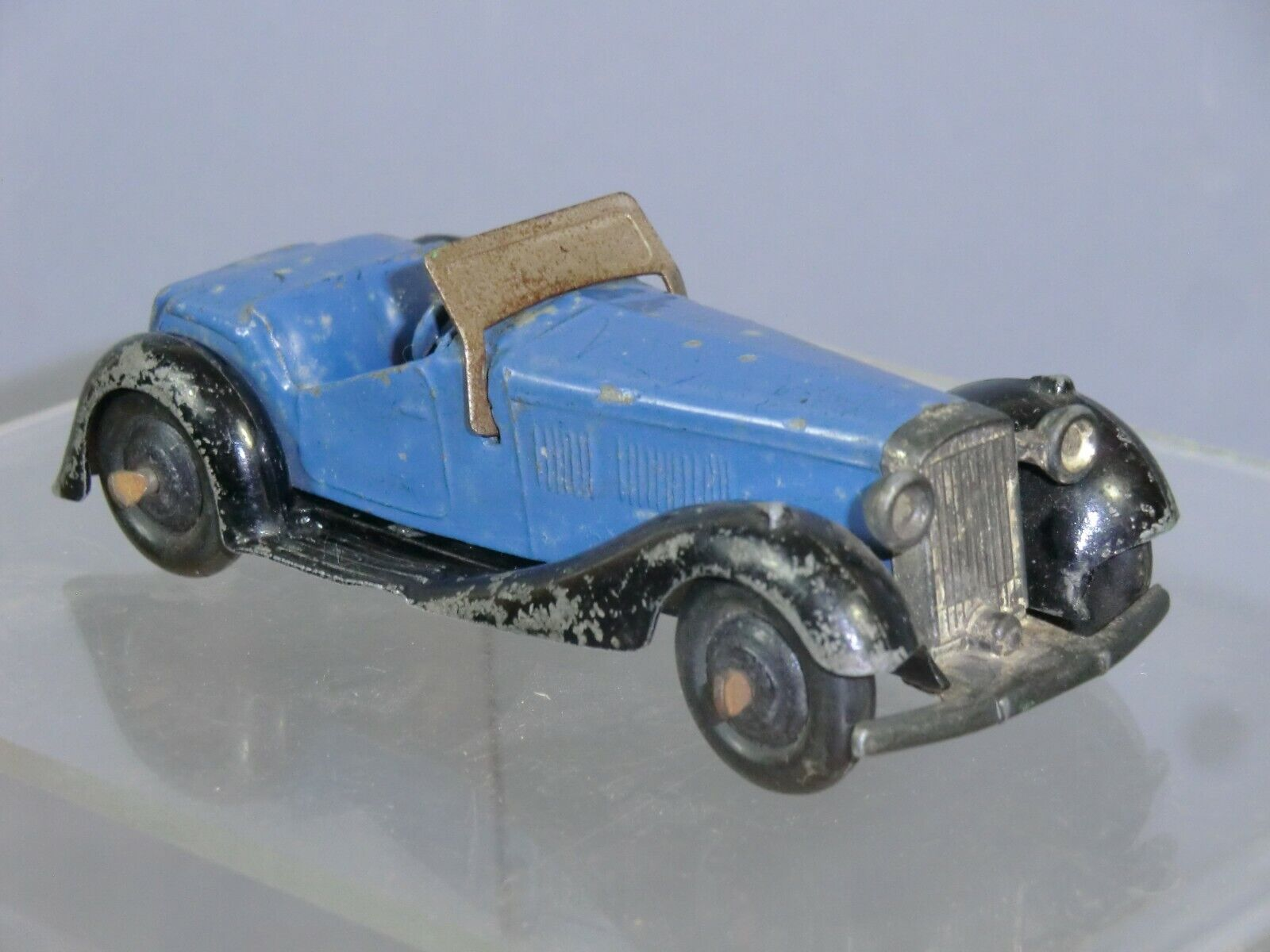 DINKY TOYS MODEL No.36e BRITISH SALMSON 2- SEATER SPORTS CAR  SAXE Blau VERSION