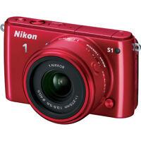 Nikon 1 S1 10.1MP Red Digital Camera w/11-27.5mm Lens Refurb Deals