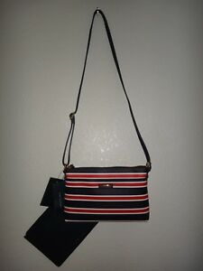 eaeae5f5e0 TOMMY HILFIGER 2-PC Set Womens Crossbody Bag   Clutch Navy Blue PVC ...