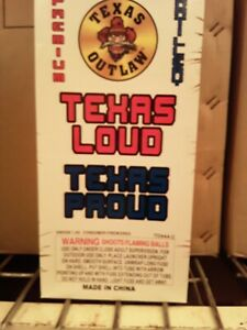Firework Labels Texas Outlaw Brand Texas Loud Texas Proud Artillery Box And 6...