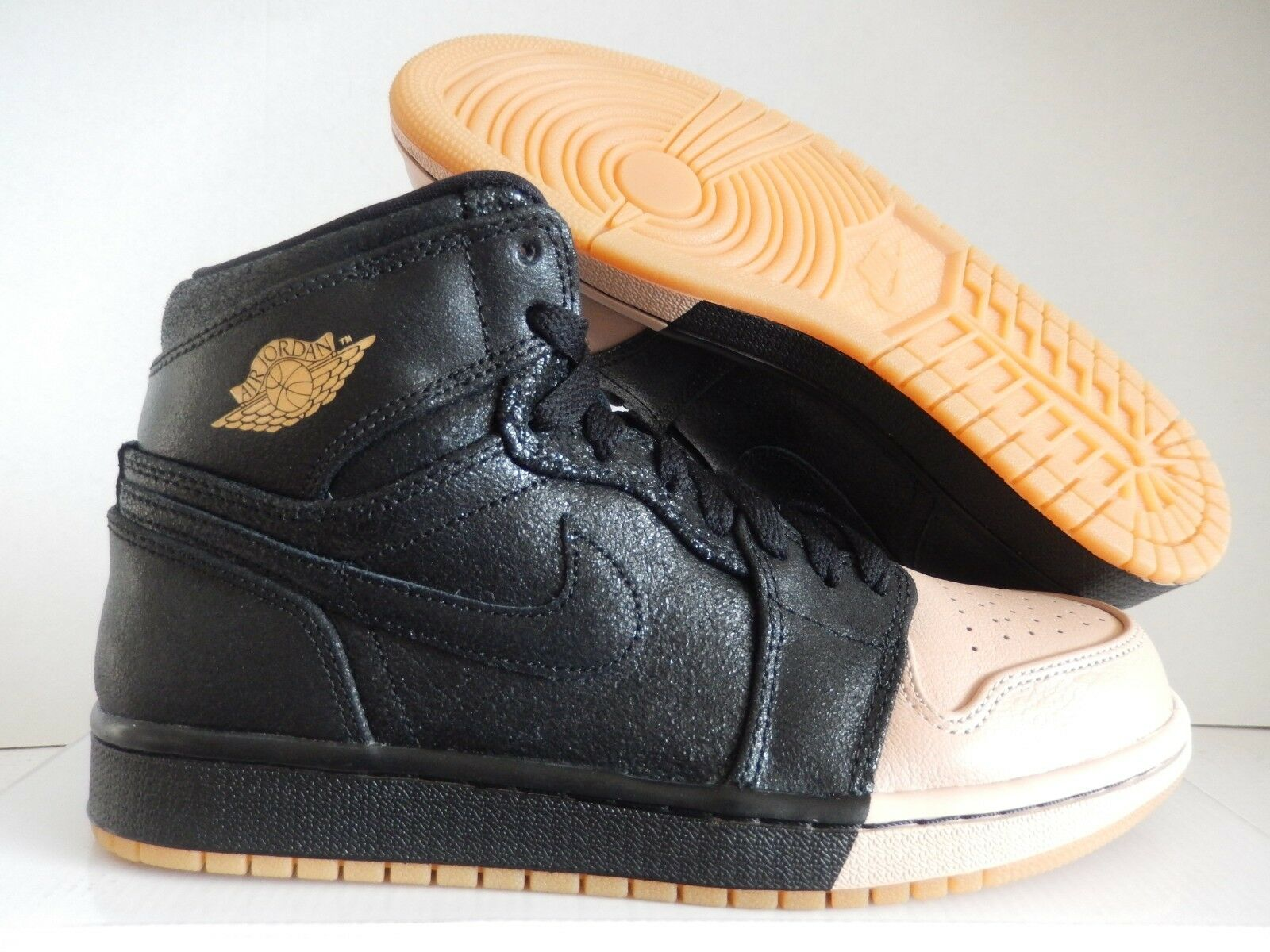 more photos 342d7 fdea1 NIKE AIR AIR AIR JORDAN 1 RETRO HIGH PREMIUM BLK SZ 11.5 WOMENS MENS SZ 10