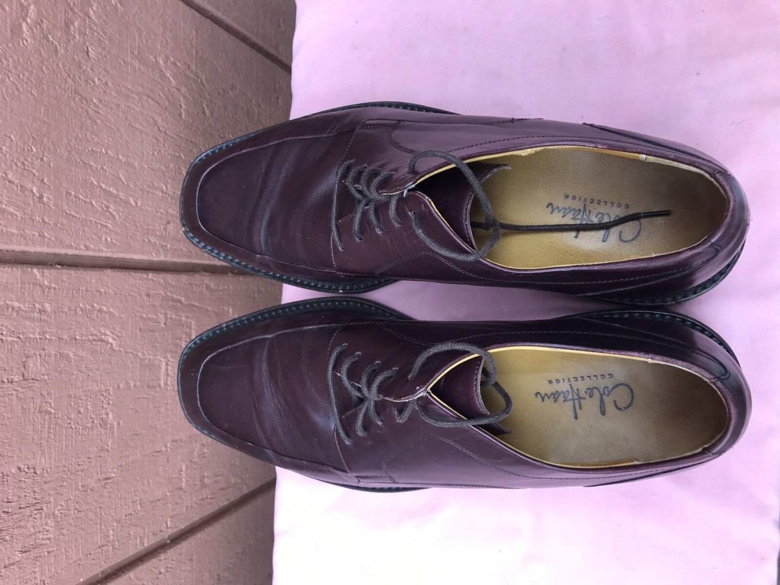 EUC COLE HAAN COLLECTION BURGUNDY DRESS LACE UP OXFORD US 9.5M