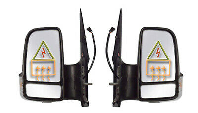 Dodge Sprinter Short Arm Full Mirror Electric Heated Left Right Pair 2007 2017