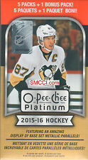 2015 2016 Upper Deck OPC O Pee Chee PLATINUM Hockey Factory Sealed Box of Packs