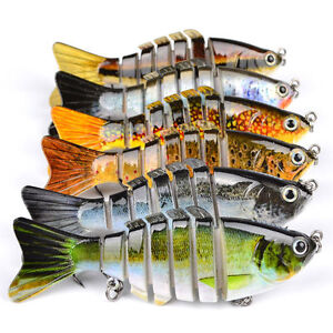 6pcs Lot Fishing Lures 10cm 12g Swim Baits 6# Fishing Tackle Bass Bait Swimbait