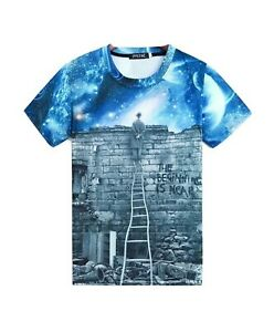 Videz-votre-esprit-T-Shirt-All-Over-Imprime-Univers-Stars-T-Shirt