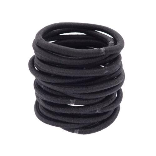 40 Pcs Set Black Elastic Hair Tie Ponytail Holder Bulk Lot Headband Wholesale