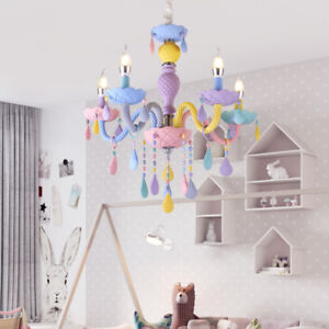 Crystal Chandelier Modern Elegant Macaron Color Droplight ...