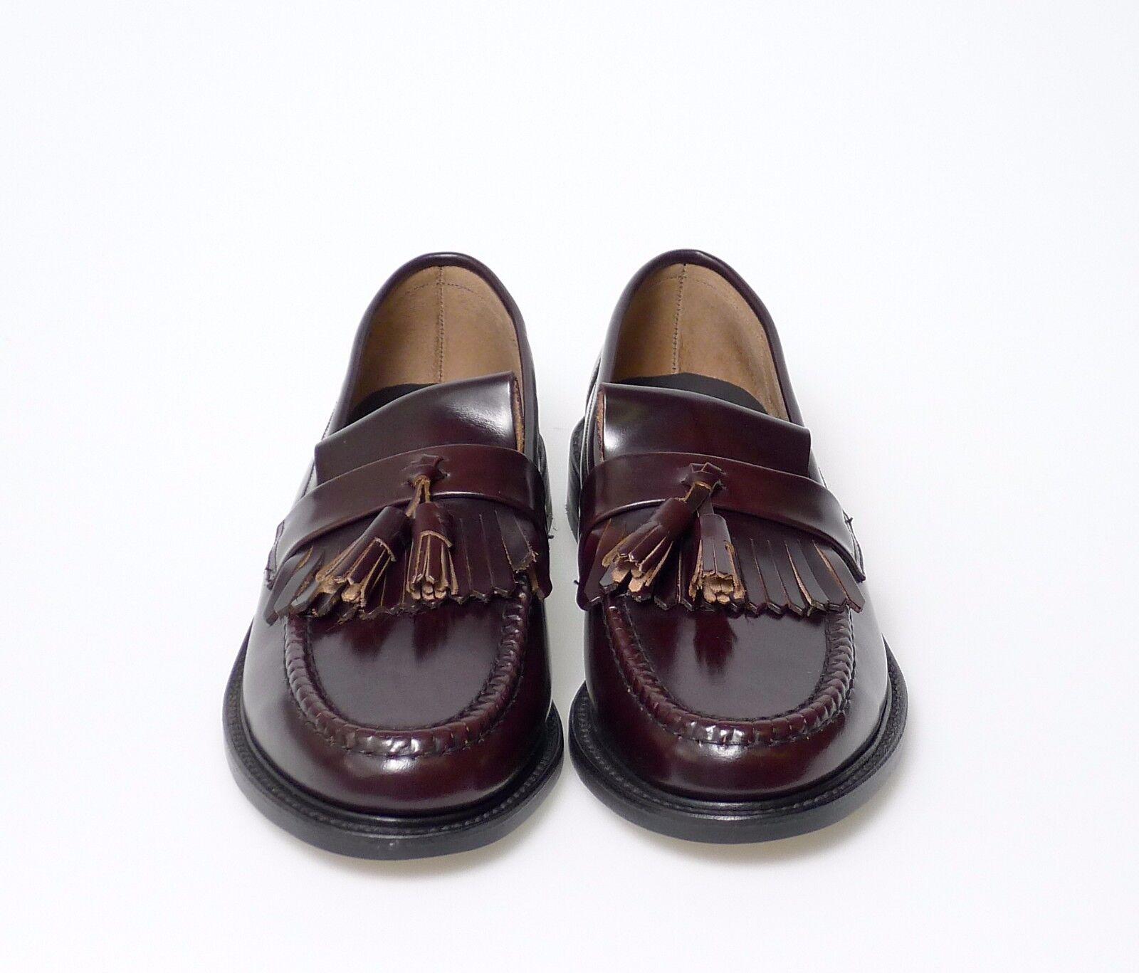 Loake Brighton Oxblood Leather Tassel Loafers (see Tallas)