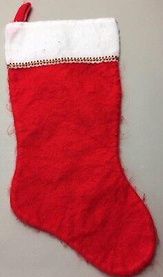 Bonito Large Fabric Christmas Red Stocking Lights Santa Hook Loop Holiday Decoration Ventas Baratas 50%