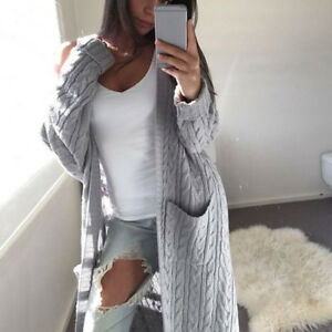 Women-039-s-Knitted-Sweater-Long-Sleeve-Cardigan-Winter-Jumper-Outwear-Coat-Jacket