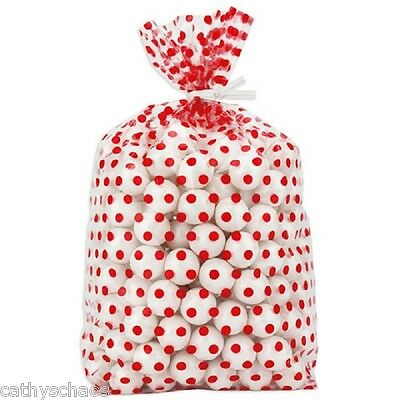 lot 100 Holiday Deer Red Plaid 4x9 Cello Bags Cellophane Valentine Cookie Gifts