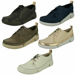 LADIES TRIGENIC CLARKS LACE UP CASUAL