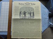 1962 Potomac Ed Fantasy Newspaper- May 1862- Battles of Front Royal, Winchester