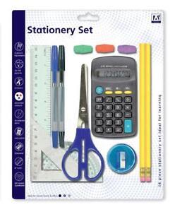 13-Pcs-School-Stationary-Set-For-Kids-Pens-Ruler-HB-Pencils-Calculator-Scissor