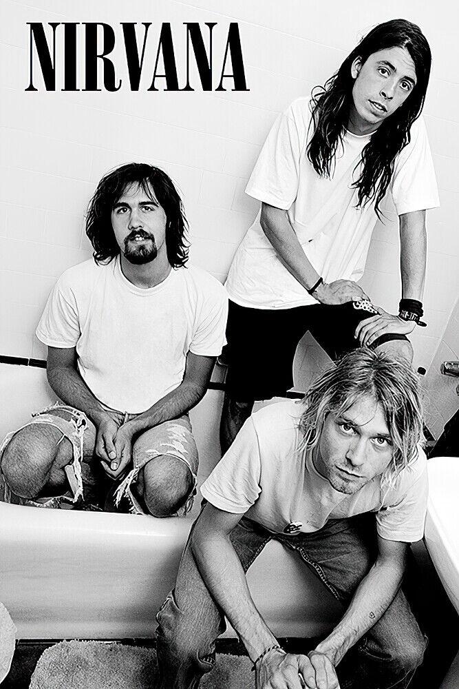 P225 Kurt Cobain Smoking Music Singer Guitar 27x40 24x36 14x21 Silk Poster