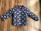 Gap kids toddler girl puffer  jacket Blue hearts size 5 EUC