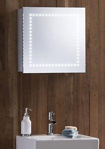 Led Illuminated Bathroom Mirrored Cabinet Shaver And Sensor