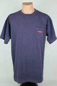 Vintage-Doral-Cigarettes-Adult-Mens-XL-Faded-Purple-Single-Stitch-Pocket-T-Shirt