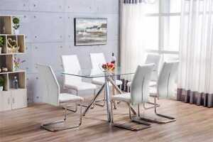 ALEXA-Black-White-Chrome-Glass-Dining-Table-Set-And-6-Leather-Dining-Chairs