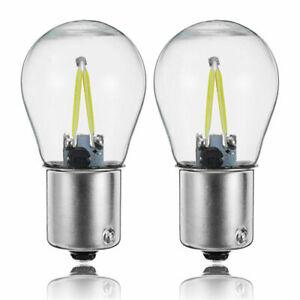 2X-1156-BA15S-P21W-COB-Clignotant-LED-Blanche-Ampoule-De-Rechange-Inversee-E7V8