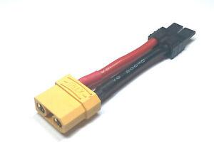 1x-Adapter-XT90-Buchse-auf-Traxxas-TRX-Stecker-Goldstecker-Adapterstecker-12AWG