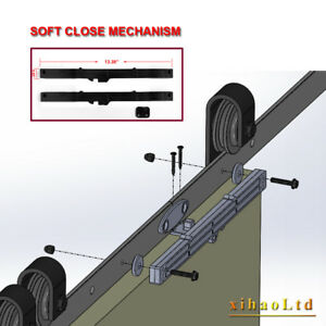 Soft Close Open Mechanism For Sliding Barn Wood Door 1 ...