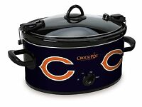 Large Chicago Bears Crockpot Slow Cooker For Tailgating Football Party Serve 7+