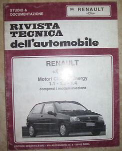 tecnica dell automobile  RIVISTA TECNICA DELL'AUTOMOBILE - N.94 RENAULT CLIO (BP) | eBay