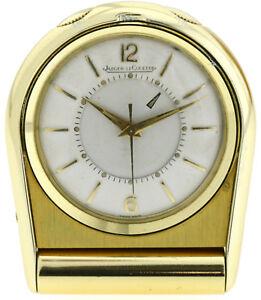 Jaeger-LeCoultre-Memovox-Reise-Alarm-Vintageuhr-um-1960-70-mit-original-Box