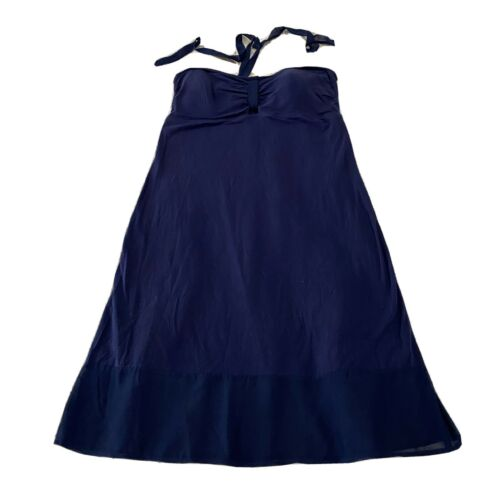 NWT Tommy Bahama Blue Knit & Chiffon Halter Dress