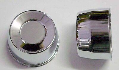 4 SHORT CENTER CAPS FOR CHEVY GMC PICKUP TRUCK 6 LUG 2.72 SHORT 4.25 BORE CHROME