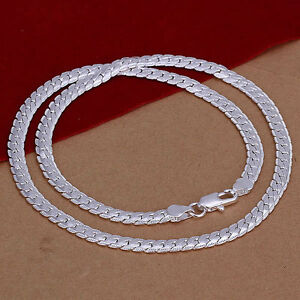 collier snake argent homme