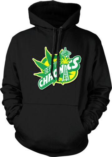 Seattle Chronics Parody Funny Humor Stoner Weed Smoke Hoodie Pullover Sweatshirt