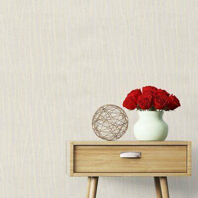 Windsor Light Cream Glitter Wave Wallpaper Abstract Modern Texture 7810