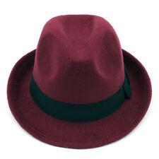 Men Women Kids Children Boys Fedora Hats Trilby Caps Jazz Panama Sunhat Wool