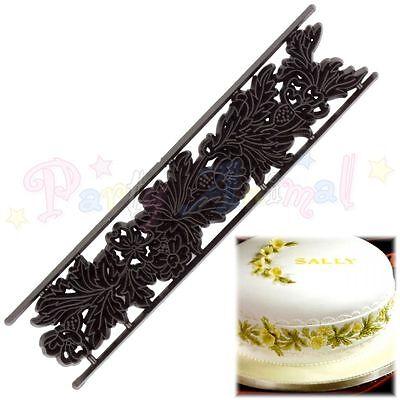 Sugarcraft Patchwork Cutters- Floral Side Design Cutter Impression Embosser Tool