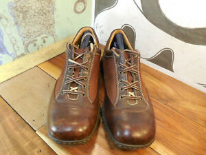 born brown leather casual oxfords walking shoes men's 10