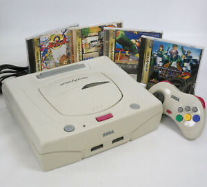 "Sega Saturn WHITE Console Tested System HST-3220 JAPAN ""NTSC-J"" AD65089430"