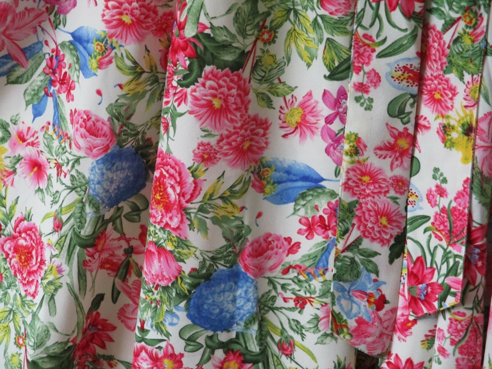 JOE braunS TEA DRESS Rosa Blau Flowers 1940s 1950s 1950s 1950s Retro Fit & Flare 12  NEW 754143