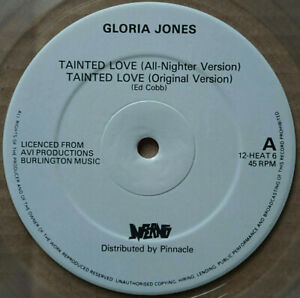Gloria Jones TAINTED LOVE + 10 Northern Soul Classics - clear VINYL LP EX+ 1982