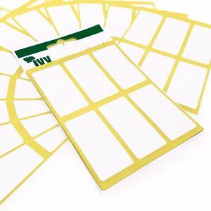 360-Selbstklebend-Haftend-Weiss-Etiketten-Sticker-34-x-75mm-Ivy-Briefpapier