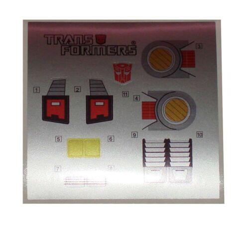G1 Doublecross Sticker Decal Sheet