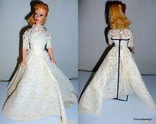 Barbie Doll 1959 Blonde Ponytail #5 Red Lips #850 Blue Eyes Liner Mattel VTG
