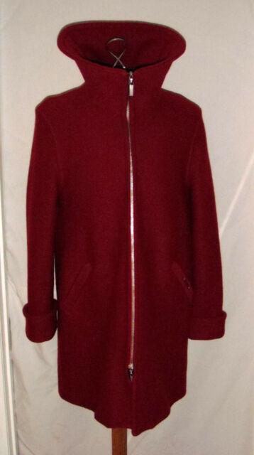 Geiger Austria Womens 38 US Med Boiled Wool Coat Jacket Lined Red 36